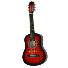 Six Metal String Guitar in Red / Black