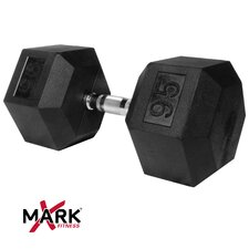 <strong>X-Mark</strong> 95 lb Rubber Hex Dumbbell