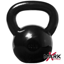 <strong>X-Mark</strong> 40 lb. Black Cast Iron Kettlebell