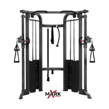 Commercial Functional Trainer Cable Machine with Dual 200 lb Weight Stacks