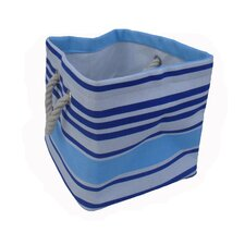One Piece Small Square Soft Storage in Blue Stripe
