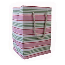 Square Soft Storage in Pink Stripe