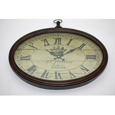 <strong>Wicker Valley</strong> Bordeaux Oval Wall Clock