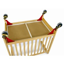Evacuation Frame with Antique Brass Casters