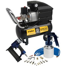 6 Gallon Air Compressor with Wheel Kit and Accessories