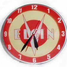 "<strong>American Retro</strong> Double Bubble 14.5"" Elgin Bicycle Wall Clock"