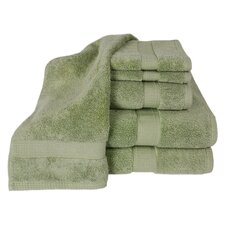 100% Supima Zero-Twist Cotton 6-Piece Towel Set