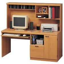 <strong>OS Home & Office Furniture</strong> Computer Workcenter with Hutch