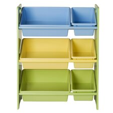 Toy Storage Bookcase with Tubs