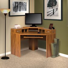 <strong>OS Home & Office Furniture</strong> Office Adaptations Corner Desk with Monitor Platform