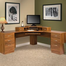 <strong>OS Home & Office Furniture</strong> Office Adaptations L-Shape Desk Office Suite