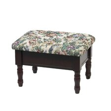 Queen Anne Style Footstool with Storage