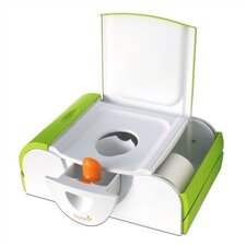 Potty Bench Training Toilet in Green / White