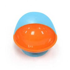 Catch Bowl with Spill Catcher in Blue Raspberry / Tangerine