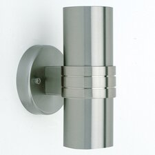 Midi 2 Light Outdoor Semi-Flush Wall Light