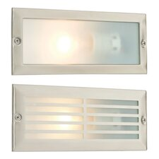 Hercules Brick Grill 1 Light Outdoor Recessed Wall Light