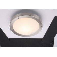 Grand Portico 1 Light Flush Ceiling Light