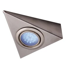 Roxy Blue LED Triangle Under Cabinet Light in Satin Nickel (Set of 2)