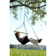 Swinger Hanging Chair Set in Black
