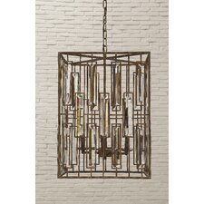 Uptown Crystal and Steel Chandelier