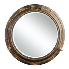 Sanctuary Metal Porthole Wall Mirror