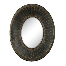 <strong>Creative Co-Op</strong> Haven Oval Beveled Glass Wall Mirror