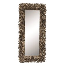 Seaside Driftwood Framed Mirror