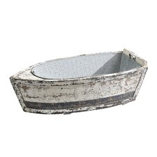 Lake Living Wood Boat with Tin Insert