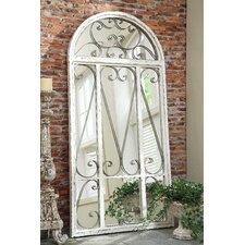 Cottage Chic Metal Frame Arch Mirror
