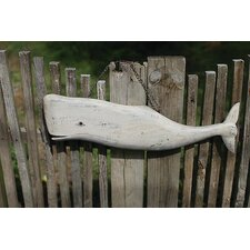 Seaside Hand Carved Whale with Chain Hangers