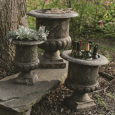 <strong>Creative Co-Op</strong> Turn of the Century Metal Urns (Set of 3)