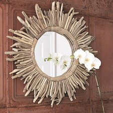 <strong>Creative Co-Op</strong> Sanctuary Driftwood Sunburst Mirror