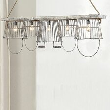 <strong>Creative Co-Op</strong> Casual Country Basket 5 Light Pendant