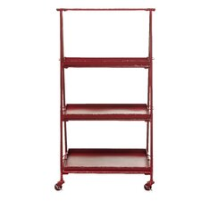 "Metal Mobile 47"" Bookcase"