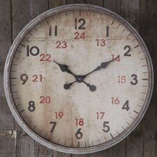 Deep Galvanized Wall Clock
