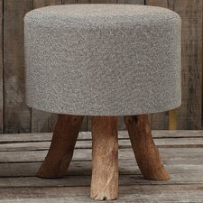 <strong>Creative Co-Op</strong> Jute and Wood Stool