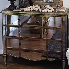 Wood and Glass Mirrored Chest