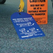 Bed Height Indicator Tag in Blue (Bag of 5)
