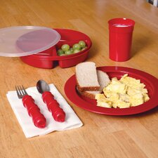 Deluxe Dinnerware Eating and Drinking Aids Set