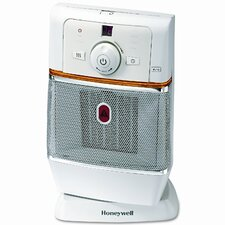 1,500 Watt Ceramic Compact Electronic Space Heater with Oscillating Tip-Over switch