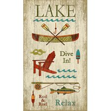 Lake Wall Art by Suzanne Nicoll Vintage Advertisement Plaque