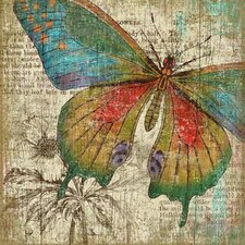 Butterfly 1 Right Wall Art by Suzanne Nicoll Graphic Art Plaque