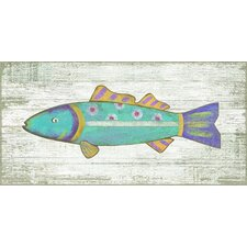 Funky Fish 2 Wall Art by Suzanne Nicoll Painting Print Plaque