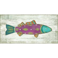 Funky Fish 4 Wall Art by Suzanne Nicoll Painting Print Plaque
