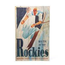 Rockies Vintage Advertisement Plaque