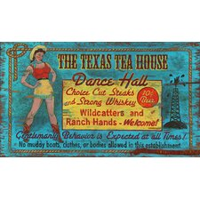 Texas Tea House Vintage Advertisement Plaque