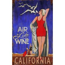 <strong>Vintage Signs</strong> Air Like Wine Vintage Sign