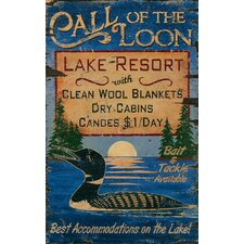 Call of the Loon Vintage Advertisement Plaque