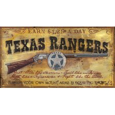 Texas Ranger Vintage Advertisement Plaque