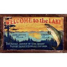 Lake Vintage Advertisement Plaque